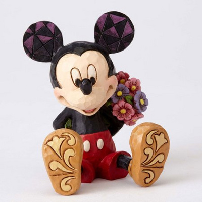 FIGURA MICKEY MOUSE WITH FLOWERS MINI