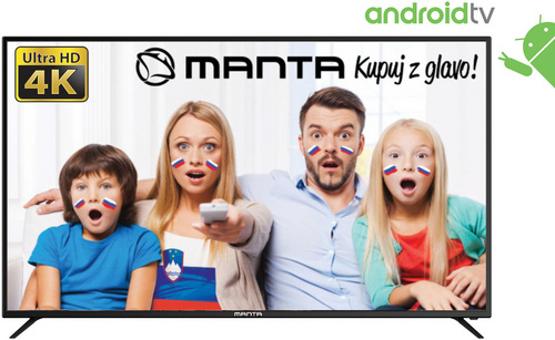 LED TV Manta 65LUA79M, 65'' (Diagonala 165cm), 4K-UHD, ANDROID Smart, HDR, WiFi, RJ45, USB, DVB-C/T/T2/S/S2, Dolby Digital