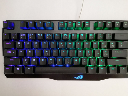 ASUS Claymore, MX Red, RGB, USB, UK SLO g. tipkovnica