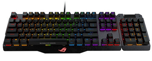 ASUS Claymore, MX Red, RGB, USB, US SLO g tipkovnica