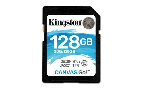 Kingston SDXC 128GB canvas go, 90mb/45mb/s, UHS-I Speed Class 3 (u3) (SDG/128GB) pomnilniška kartica