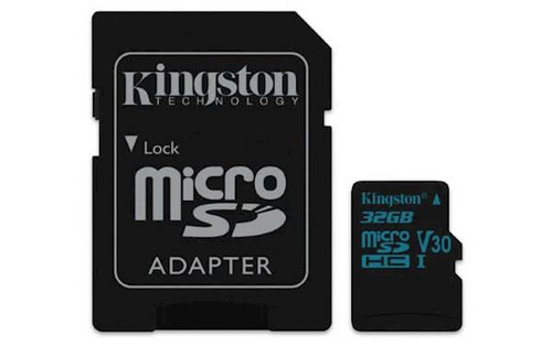 Kingston SDHC micro 32GB canvas go, 90mb/45mb/s, UHS-I speed class 3 (u3) pomnilniška kartica