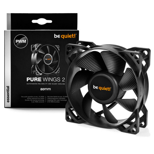 BE QUIET! Pure Wings 2 (BL037) 80mm 4-pin PWM ventilator