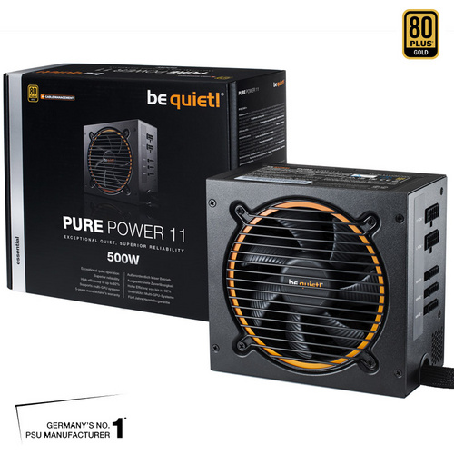 BE QUIET! Pure Power 11 CM 500W (BN297) 80Plus Gold ATX napajalnik