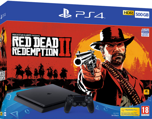 Playstation 4 500GB + Red Dead Redemtion 2 igralna konzola