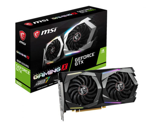 MSI GeForce GTX 1660 GAMING X 6G, 6GB GDDR5, PCI-E 3.0 grafična kartica