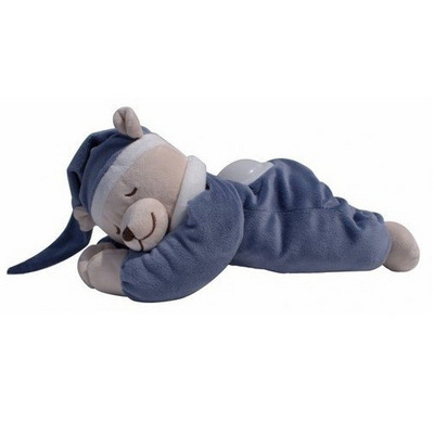 DOODOO BEAR NIGHTLIGHT JEANS BLUE pojoči medvedek