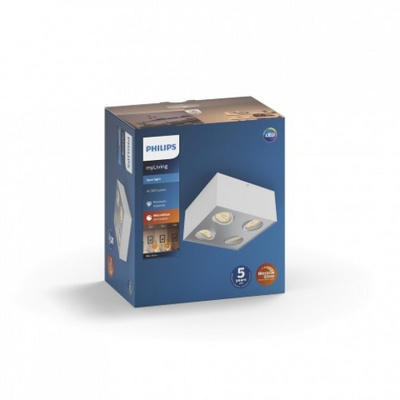 PHILIPS 50494/31/P0 BOX 4x4.5W reflektor beli