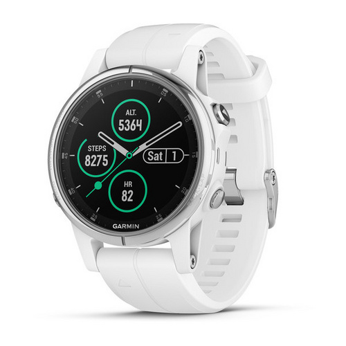 GARMIN fenix 5S -(010-01685-00) silver carrara white band