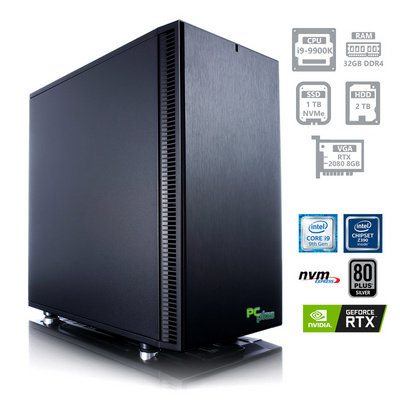 PCPLUS Dream machine i9-9900K 32GB 1TB NVMe SSD + 2TB HDD GeForce RTX 2080 8GB namizni gaming računalnik