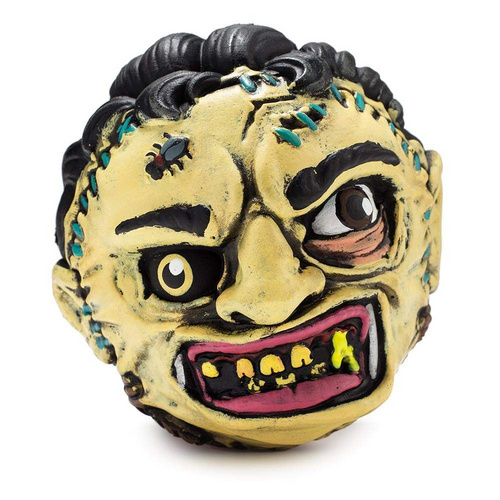 """KIDROBOT 4"""" MADBALL FOAM BALL LEATHERFACE"""