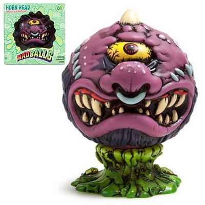 KIDROBOT MADBALLS MEDIUM FIGURES-HORN HEAD