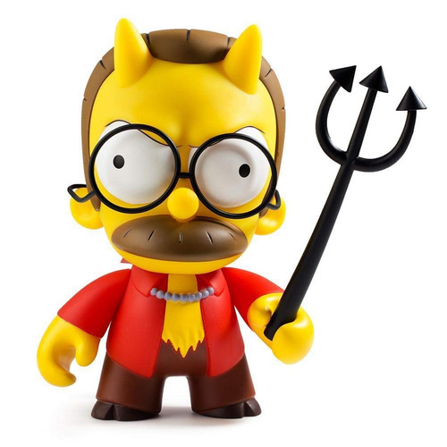 KIDROBOT THE SIMPSONS DEVIL FLANDERS MEDIUM