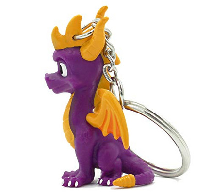 MERCHENDISE OFFICIAL SPYRO THE DRAGON 3D KEYRING NUMSKULL
