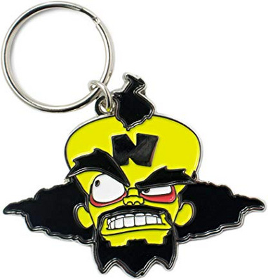 MERCHENDISE OFFICIAL CRASH BANDICOOT DR NEO CORTEX KEYRING NUMSKULL