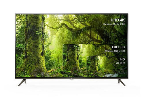 "LED TV TCL 65"" (diagonala 165cm) 65EP660, 4K-UHD, HDR Smart, Android 9.0, Pameten, WiFi, 10bit, Micro Dimming, Ultra tanko metalno titanium ohišje"