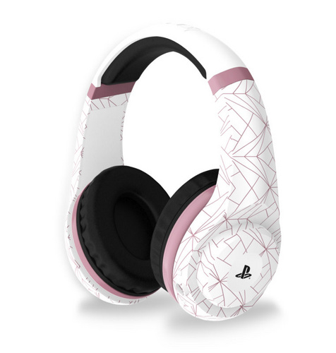 4GAMERS PS4 STEREO GAMING HEADSET ROSE GOLD EDITION - ABSTRACT WHITE slušalke