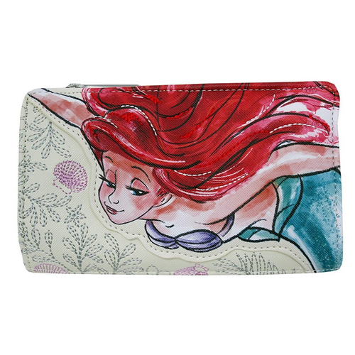 LOUNGEFLY LITTLE MERMAID BI FOLD WALLET