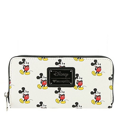 LOUNGEFLY DISNEY CLASSIC MICKEY AOP ZIP AROUND WALLET