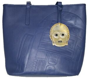 LOUNGEFLY STAR WARS R2D2 C3PO TOTE BAG