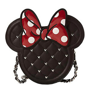 LOUNGEFLY DISNEY MINNIE DIECUT QUILTED XBODY