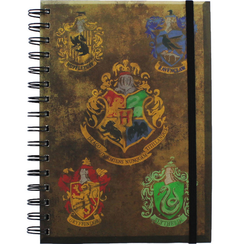 HARRY POTTER HOGWARST CREST & FOUR HOUSES A5 BELEŽNICA PYRAMID