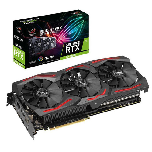 ASUS ROG Strix GeForce RTX 2060 SUPER EVO OC 8GB GDDR6 USB tip-C (ROG-STRIX-RTX2060S-O8G-EVO-GAMING) RGB gaming grafična kartica