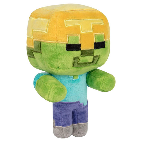 MINECRAFT HAPPY EXPLORER GOLD HELMET ZOMBIE PLIŠ