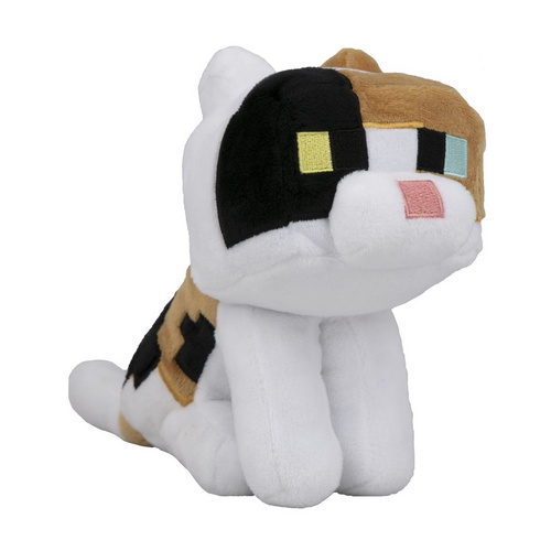 MINECRAFT HAPPY EXPLORER CALICO CAT PLIŠ