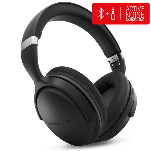 ENERGY SISTEM Travel 7 Bluetooth/3,5mm Active Noise Cancelling naglavne črne slušalke