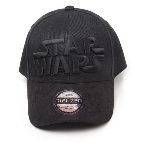 DIFUZED STAR WARS - BLACK ON BLACK LOGO CURVED BILL