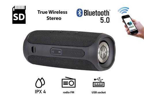 MANTA SPK130GO Bluetooth zvočnik + woofer, črn