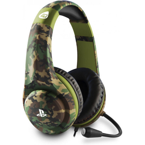 4GAMERS PRO4-70 PS4 STEREO GAMING SLUŠALKE WOODLAND