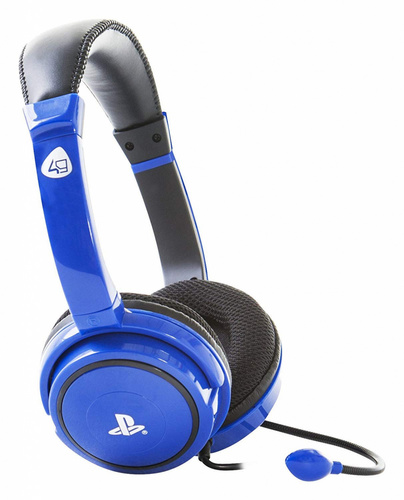 4GAMERS PRO4-40 PS4 STEREO GAMING SLUŠALKE BLUE