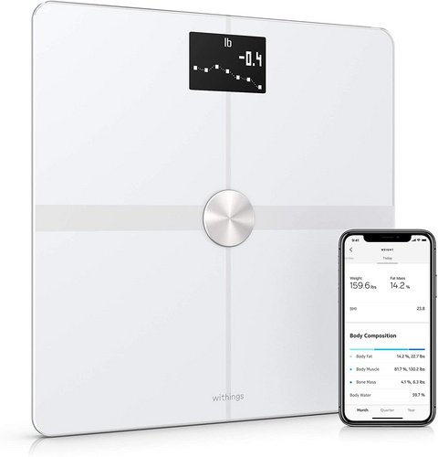 Withings WBS05-White-All-Inter Body+ Full Body Composition WiFi Scale - White