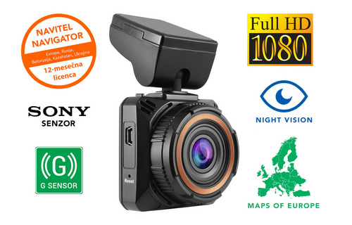 NAVITEL R650 NV, Full HD (1920x1080), Night Vision, 2'' zaslon, G-SENZOR, 170° avto in spletna kamera
