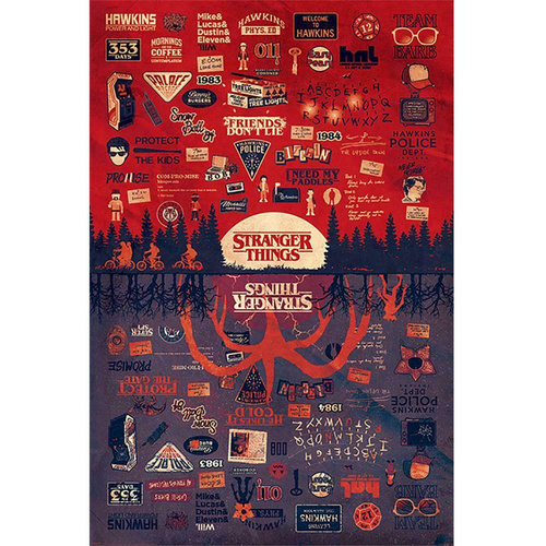 Pyramid STRANGER THINGS (THE UPSIDE DOWN) MAXI plakat
