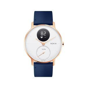 Nokia Steel HR (36mm) Rose Gold w/ Blue Leather + Grey Silicone wristband športna ura