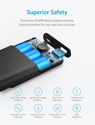 Anker PowerCore II Powerbank 10.000 mAh črn